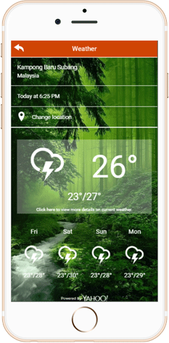 IWH Apps Weather feature