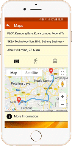 IWH Apps's Map feature