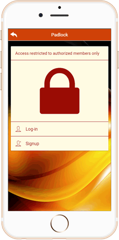 IWH Apps Padlock feature